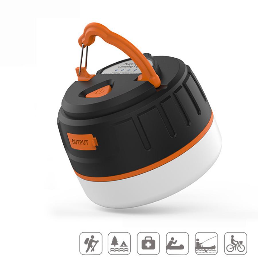 200LM 4-Mode Portable Hand Lantern Outdoor Waterproof Magnet Camping Tent Lamp Lights USB Charging 5200 mAh Power Bank Function(China (Mainland))