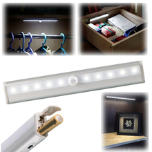 TDL-7120 10 LED IR Infrared Motion Sensor Night Light Detector Wireless Tube Lamp Kitchen Wardrobe Cupboard Closet Cabinet Light