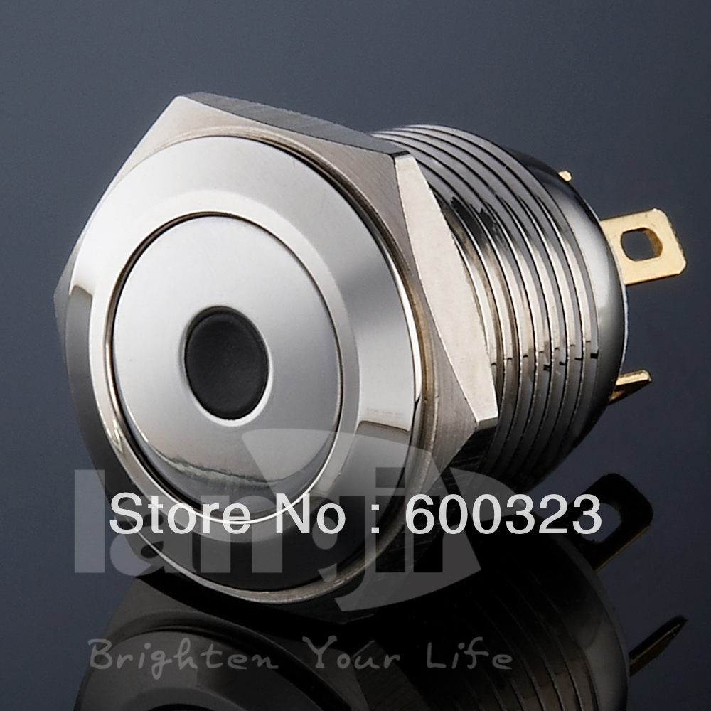 Dot illu. Brass push button switch Ls16 In Nickel with White LED lamp<br><br>Aliexpress