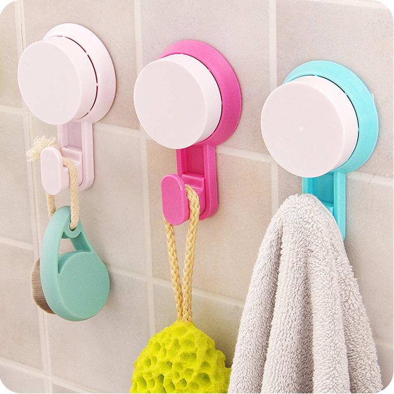 4PCS Creative Suction Hooks Towel Clothes Robe Hook,Door Bathroom Kitchen Wall Strong Suction Cup Sucker Hook Hanger Accessories(China (Mainland))