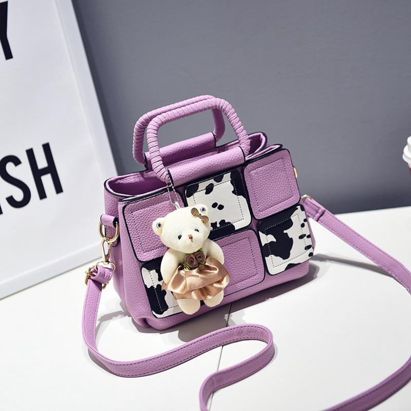 New Arrival Women handbag with a cute Teddy Bear high quality designer handbag PU leather tote bag female Messenger Bags(China (Mainland))
