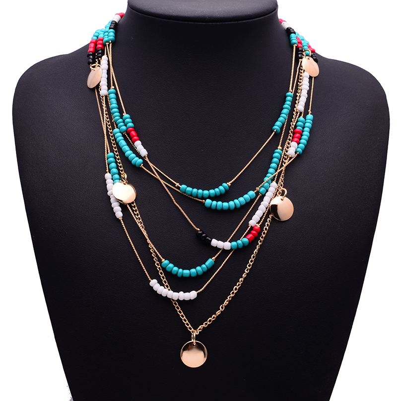 2015 New Hot XG234 Same Brand Za Fashion Pearls Necklaces Pendants Multi layers Beads Pearls Statement