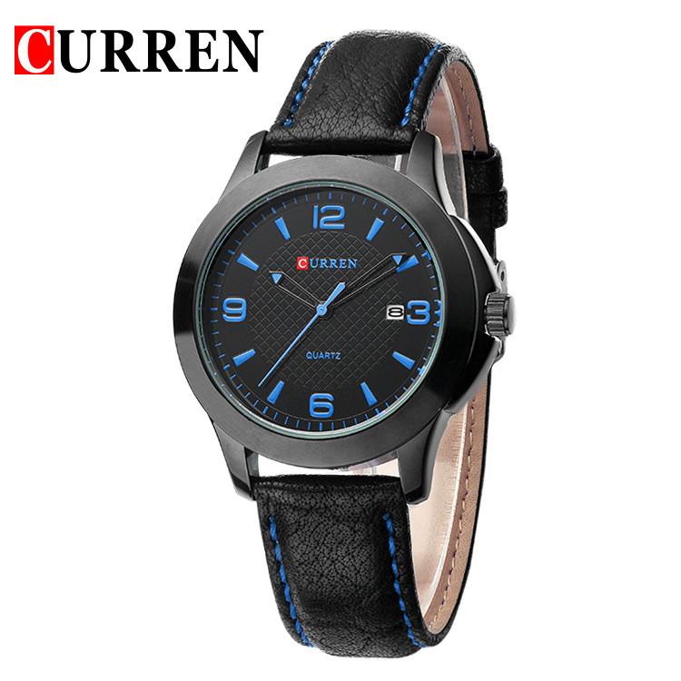 CURREN Outdoor Sport Military Mens Leather Strap Watch Imported Quartz Watches Men Calendar Wristwatch Casual Man Hour Clock<br><br>Aliexpress