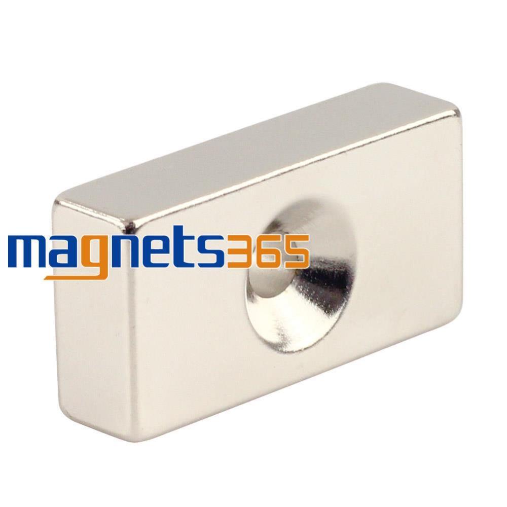 Гаджет  1pc Strong Big Block Neodymium Magnet 40 x 20 x 10 mm Hole 5 mm Rare Earth N50 None Строительство и Недвижимость