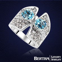 Fashion Retro Ring With Swarovski Elements Austrian Crystal For Women Wedding Rings Top Quality Anillo Nickel Free Antiallergic