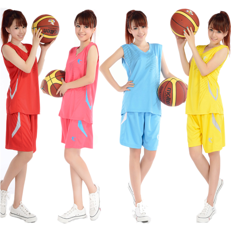 Women Basketball Suit Jerseys Shorts Summer Sweat Breathable Team Training Clothes Girls Sports Kits Customized Number Name(China (Mainland))