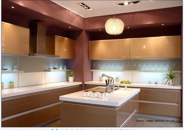 Lacquer Kitchen cabinet(LH-LA010)