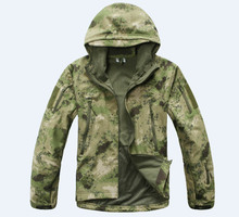 TAD Shark Skin Camouflage Outdoors Military Jacket Men Waterproof Tactical Softshell Sports Hoodies Army Hunting Outdoor Jackets(China (Mainland))