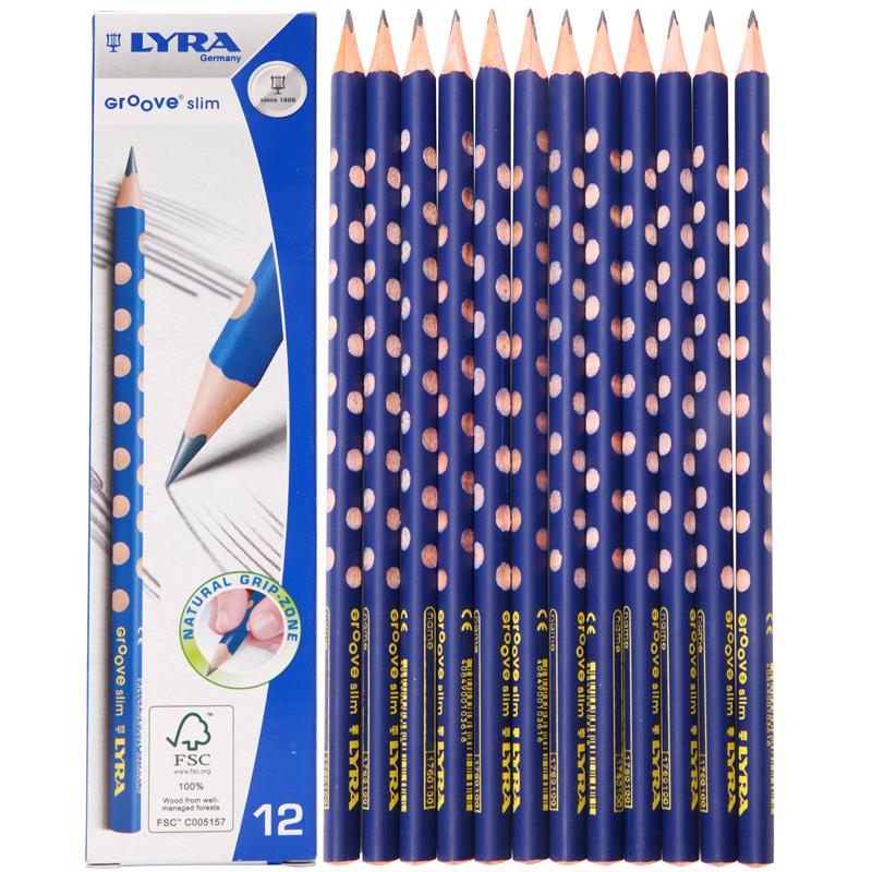 Lyra groove slim lead child hb triangle pencil 12