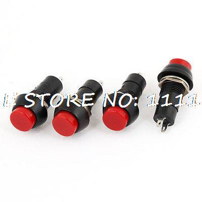 Red N/O OFF-(ON) 2 Terminals Round Self Locking Push Button Switch Latching(China (Mainland))