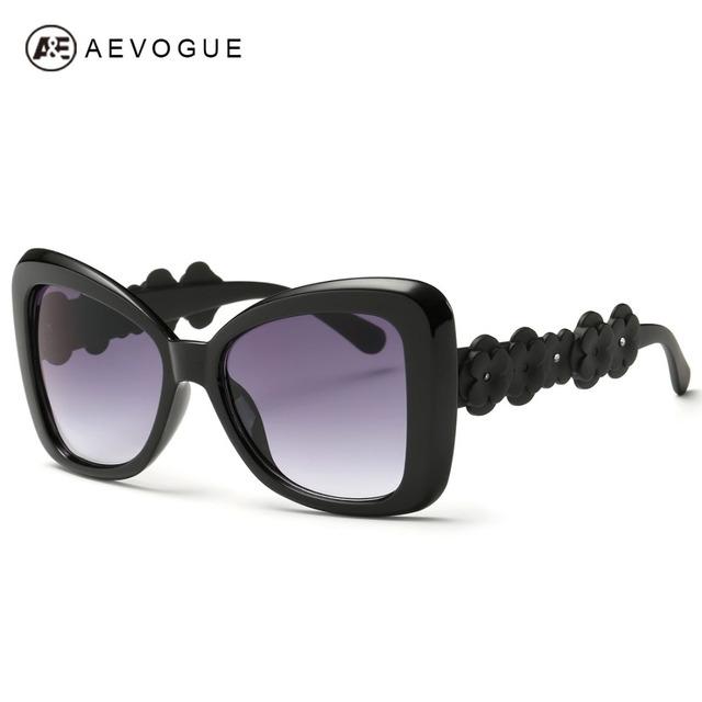 Aevogue очки женщины остыть солнцезащитные очки летний стиль украшения храма известный леди модной UV400 AE0348