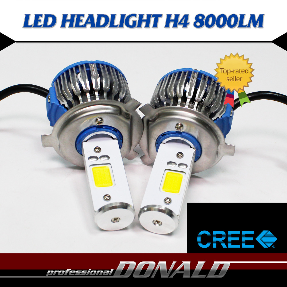 2x CREE COB LED H4 H4-3 HB2 9003 30W 8000LM/Set CANBUS W/ Canceller Decoder WHITE BULB  HI/LO DRL Fog HEADLIGHT Just Plug &amp; Play<br><br>Aliexpress