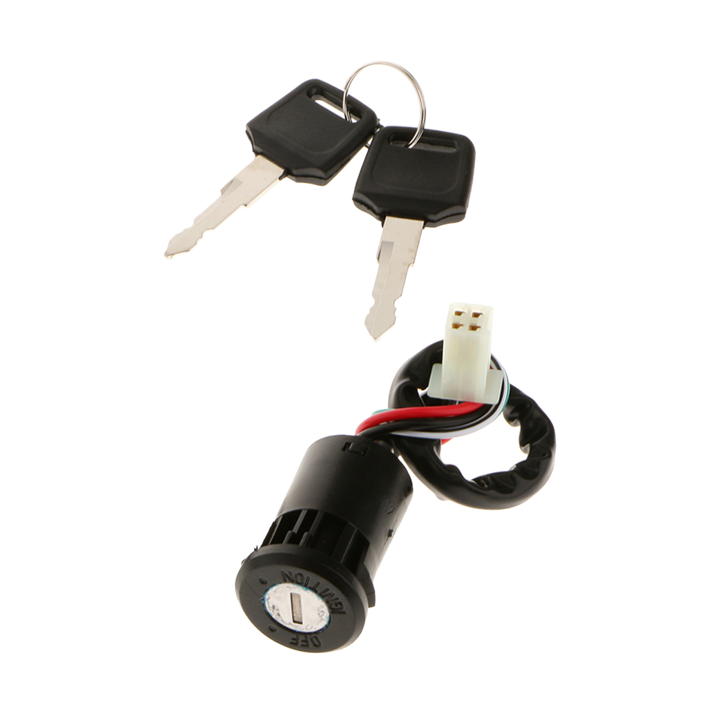 Universal Motorcycle Motorbike Ignition Switch Key For  50cc/70cc/110cc/125cc/150cc/250cc Motorbike ATV Etc Moto Accessories