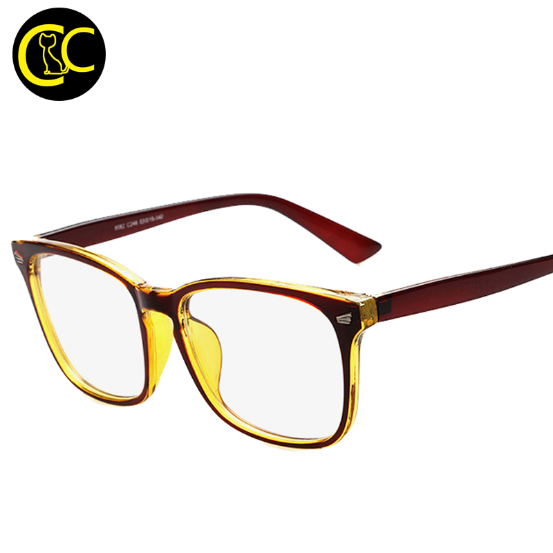 Square Framed Fashion Glasses : Hot Square Fashion Optical Glasses Frame Women Transparent ...