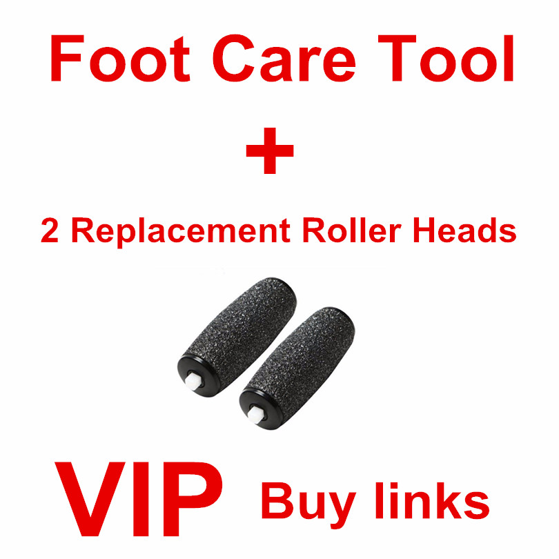 Foot Care Tool Express Pedicure+ 2 Replacements Roller Heads pedicure/file for the legs/ Feet CareTool,free shipping(China (Mainland))