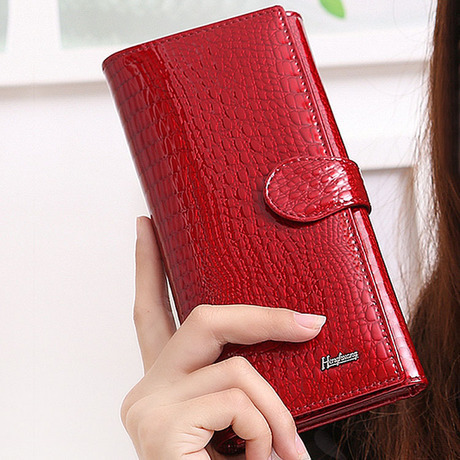 Luxury Folding Designer Women's Wallets Genuine Leather Purse Day Clutch Free Shipping HH55(China (Mainland))