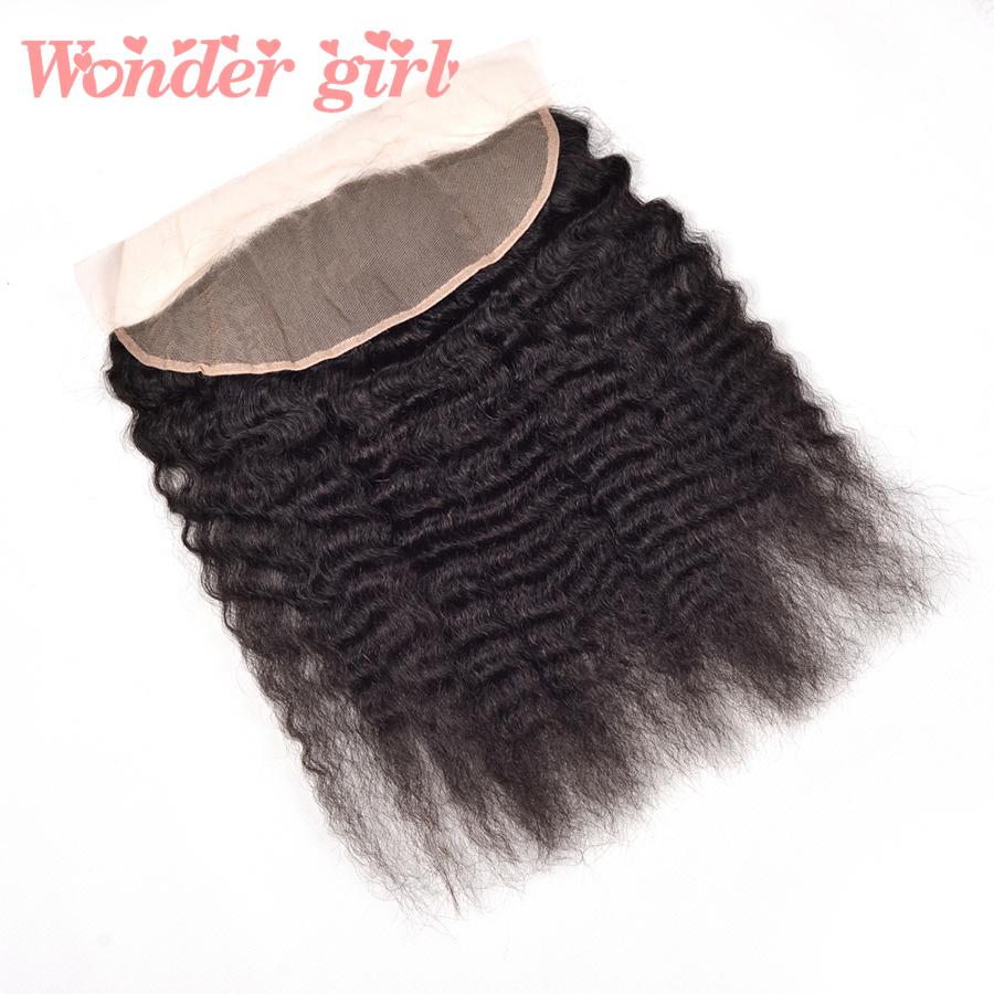 ear to ear lace frontal closure with bundles 5pcs/lot peruvian virgin hair kinky straight 100% Human Hair peruvian Coarse Yaki<br><br>Aliexpress