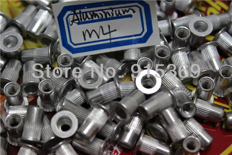 300 pcs nut kits M4 M5 M6  rivet nut kits Flat Head Aluminum  Rivet Nut Nutsert  insert<br><br>Aliexpress