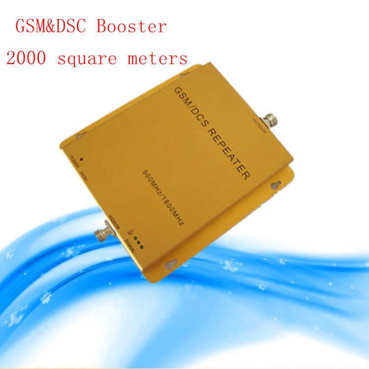 10 meters of cable+antennas,Dual band GSM /DCS Booster max.2000 M2 workable,GSM 900 and DCS 1800Mhz booster repeater(China (Mainland))