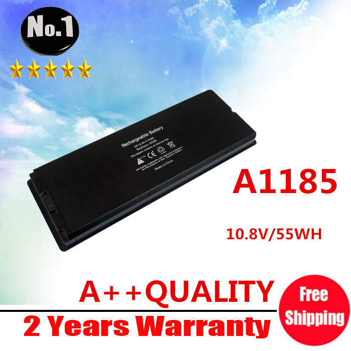 "Wholesale White 55Wh laptop Battery for Apple MacBook 13"" A1185 A1181 MA561 MA561FE/A MA561G/A MA254, Free Shipping(China (Mainland))"