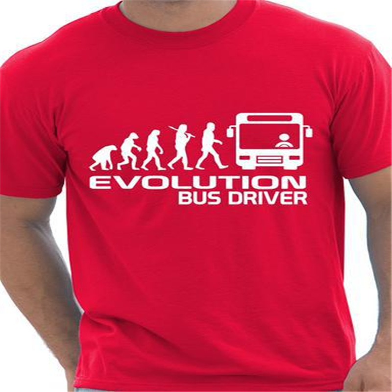 Evolution Of A Bus Driver Mens T-Shirt Summer 2016 Cotton Casual Funny Tee Shirt homme de marque Short Sleeve T Shirt T-F11911(China (Mainland))