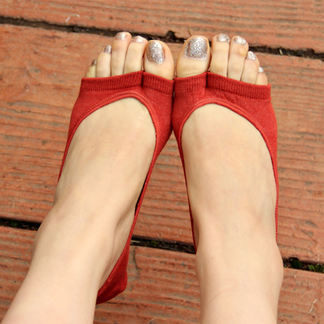 Hot Women Cotton Antiskid Invisible Socks Liner No Show Ped Socks Open Toe Sock Spring Summer 7 Colors 159(China (Mainland))