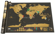 Free Shipping 1Piece In Stock Deluxe Scratch Map / Deluxe Scratch World Map 82.5 x 59.4cm(China (Mainland))