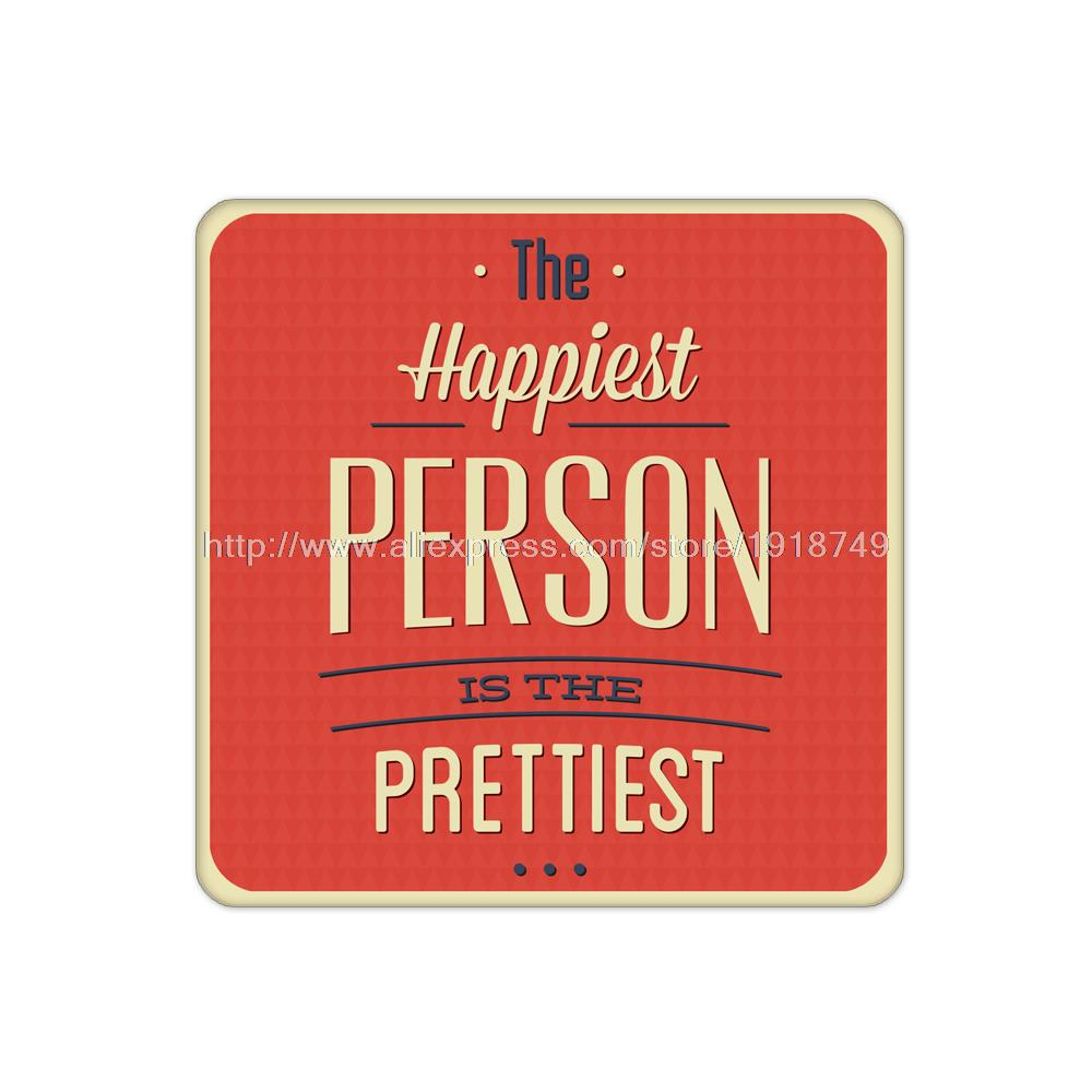 4pcs/set Red Coaster with letter happiest person custom Home Table Mat Bakery Creative Decor Drink Placemat cork Square cup mat(China (Mainland))