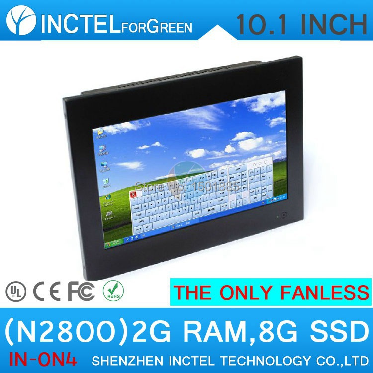 Embedded all-in-one fanless pc with Atom N2800 1.86Ghz 2G RAM 8G SSD(China (Mainland))