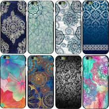 Fashion Retro Flower Design Back Phone Case Cover For Apple  iPhone 6 6S