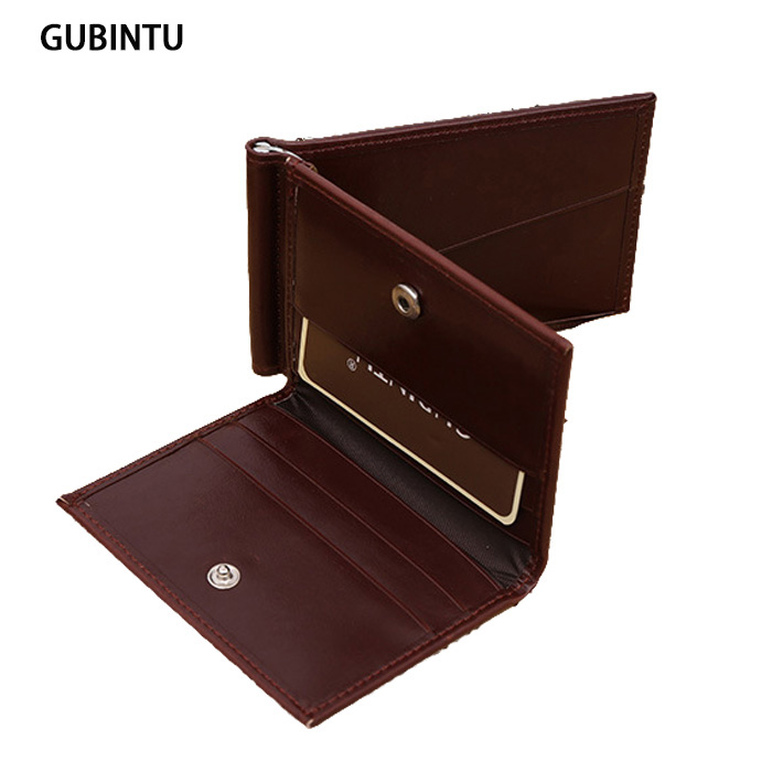 New Designer 3 Fold Money Clip Mens Credit Card Wallet Brand New Men Bifold Wallets Male ID Card Purse(China (Mainland))