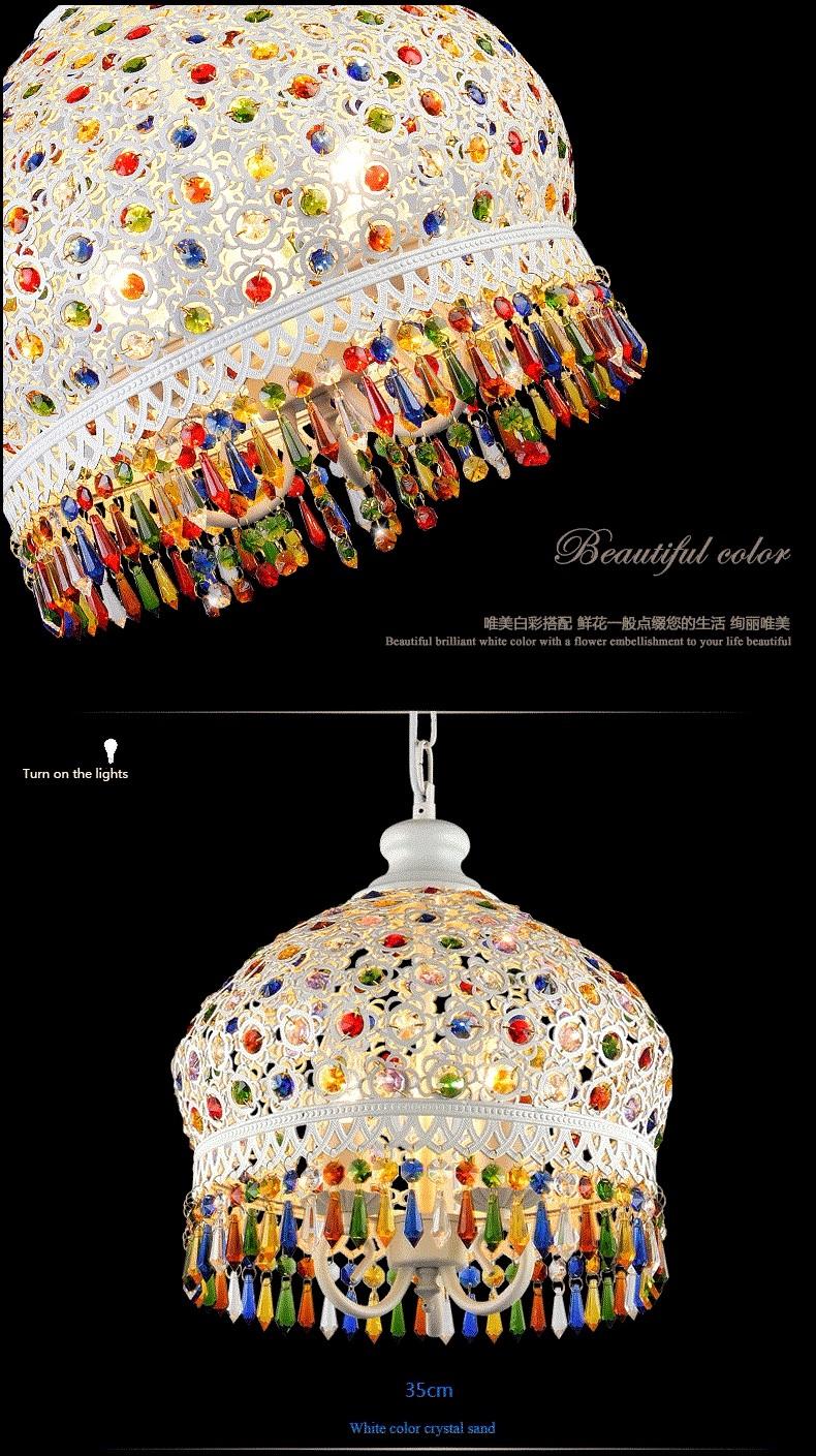 Bohemian Mediterranean Blue Crystal Ceiling Drop Light Pendant Lamp Lampshade Lighting Fixture for Room Restaurant Cafe Decor (12)