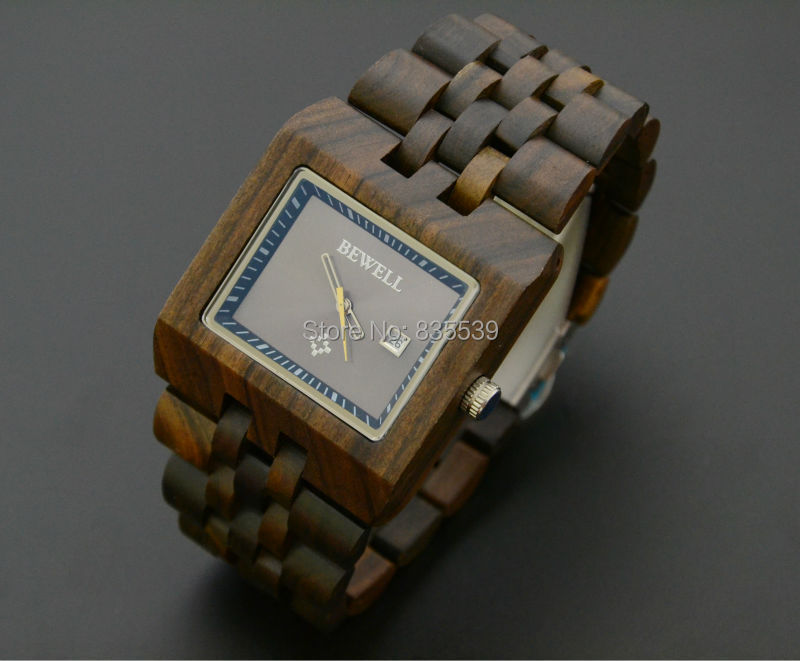2014 New design Bewell 100% Natural Wooden Watch Man Wood hand craft gifts freeshipping!!! - Your Amazing Life store