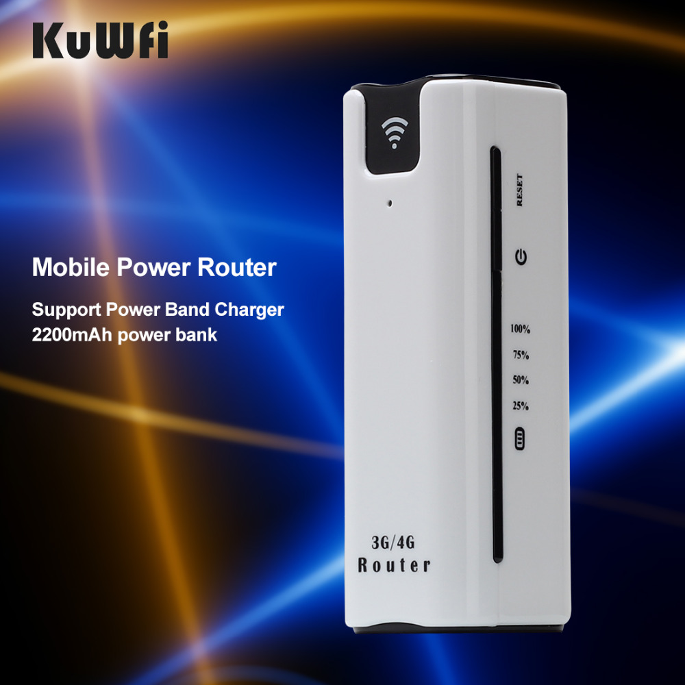 KuWFi Smart Moblie Power bank 3G WiFi Router With Sim Card Slot Portable Mobile WiFi Hotspot Wi Fi Modem 3G wifi Router(China (Mainland))