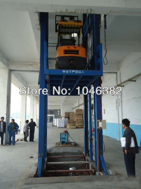 Electrical Guide Rail Chain Cargo Table Lift Platform(China (Mainland))