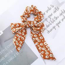 AWAYT Bow Streamers Hair Ring Fashion Ribbon Girl Hair Bands Scrunchies Horsetail Tie Solid Headwear Hair Accessories(China)
