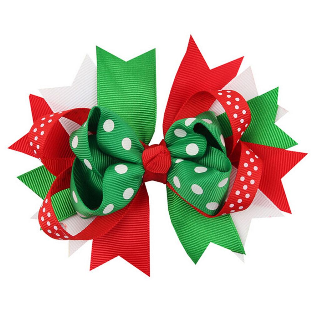 Гаджет  Christmas Ornaments Bowknot Hairpin Headdress Hairpin Christmas snowflake Bow Hair Clip baby Free Shipping None Одежда и аксессуары