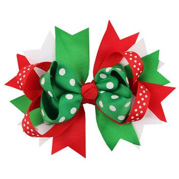 Christmas Ornaments Bowknot Hairpin Headdress Hairpin Christmas snowflake Bow Hair Clip baby Free Shipping