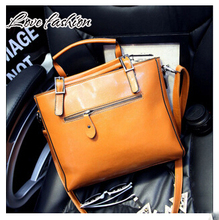 2015 European PU Leather Women s Handbag Patchwork Designer Brand High Quality Ladies Office Shoulder Bags