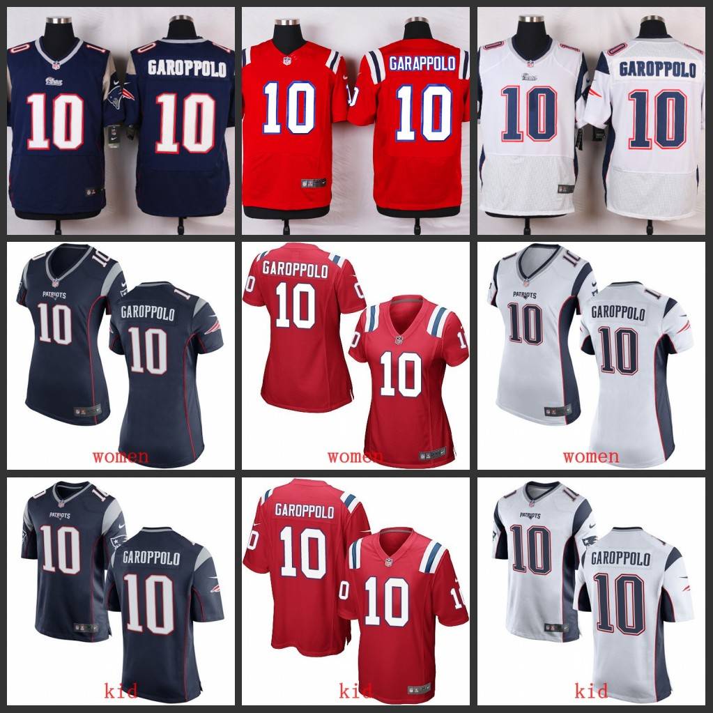 Men S New England Patriots Jimmy Garoppolo 10 White