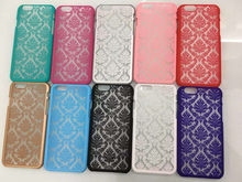 New Hard Plastic Phone Cases Lace Damask Rubberized Matte Cover For Iphone 6/6s 6 plus/ 6s plus 5/5s/SE Cellphone Back Cover