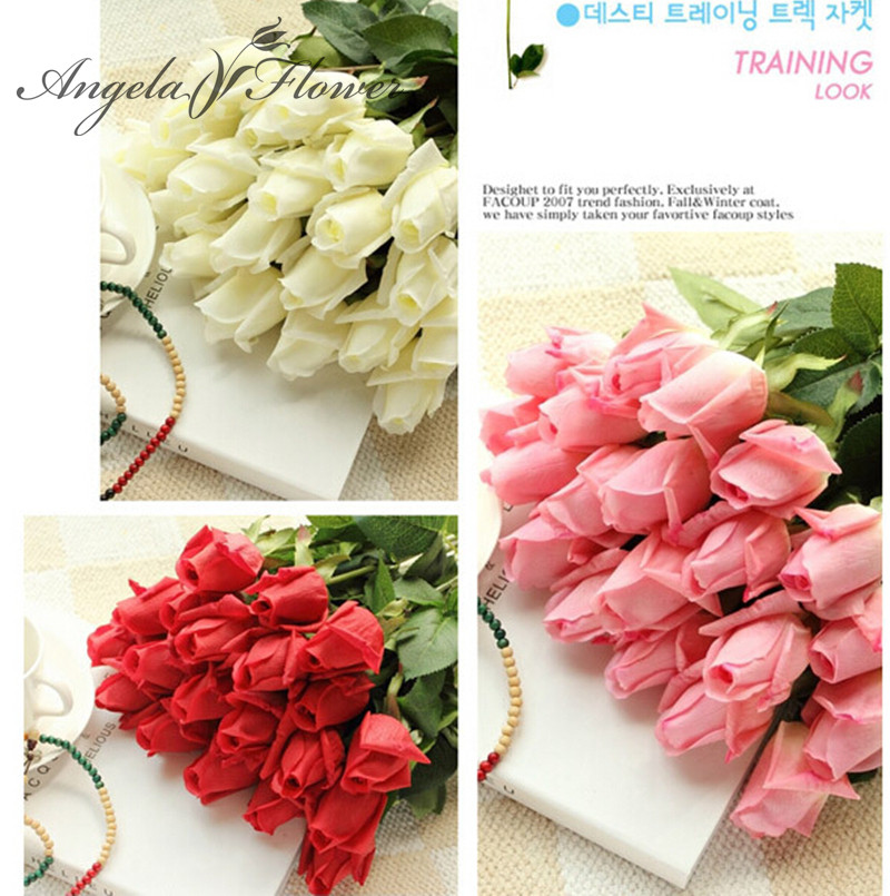 Free Shipping(11pcs/Lot) Fresh rose Artificial Flowers Real Touch rose Flowers, Home decorations for Wedding Party or Birthday(China (Mainland))