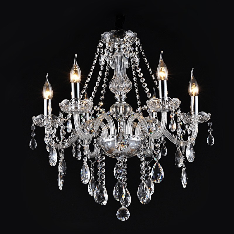 Купить Ecolight Led Хрустальная Люстра 6 Огни Прозрачный Кристалл K9 Металл Хром Люстры для Столовой