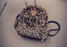 2015 fashion women printing backpack fur mini travel backpack tassel school bag for girls brand women backpack D243(China (Mainland))