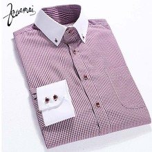 Buy EUROPE Size New Men'S Dress Shirts Chemise Homme High Casual Fashion Slim Plaid Iron Men Shirt Camisa Masculina XXXL for $11.38 in AliExpress store
