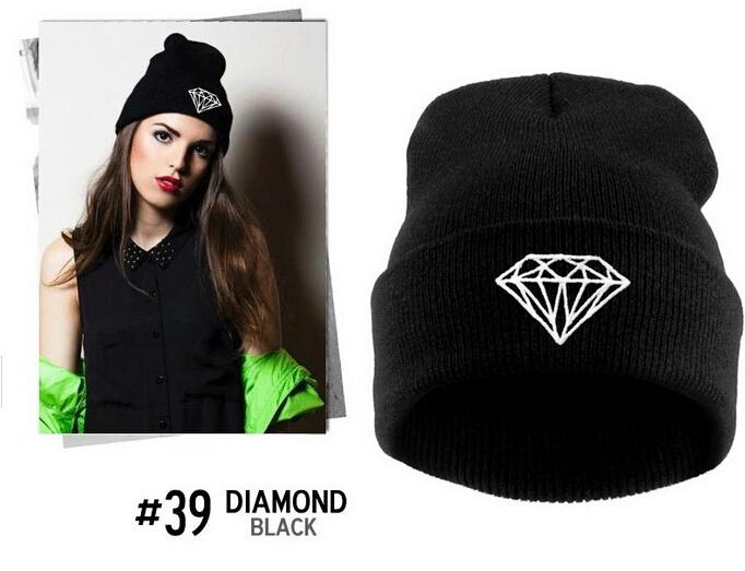 Fashion Toucas Diamond Beanies Winter Hats Skullies for Men Women De Inverno Gorros Bonnets mask caps(China (Mainland))