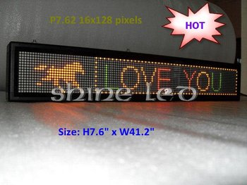 Bi-color Mini LED programmable screen +Multi language+640 messages+7000Chracters