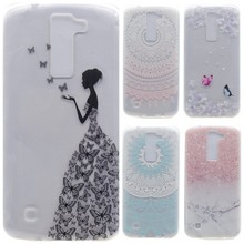 Buy Transparent Phone Cases LG K8 Lte K350 K350E K350N Case Silicone Fresh Slim Soft Back Cover Coque LGK8 Butterfly Girl for $1.18 in AliExpress store