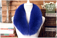 Large fox fur scarf collar article cap wool top fox fur collar fur collar false led package mail real natural leather(China (Mainland))