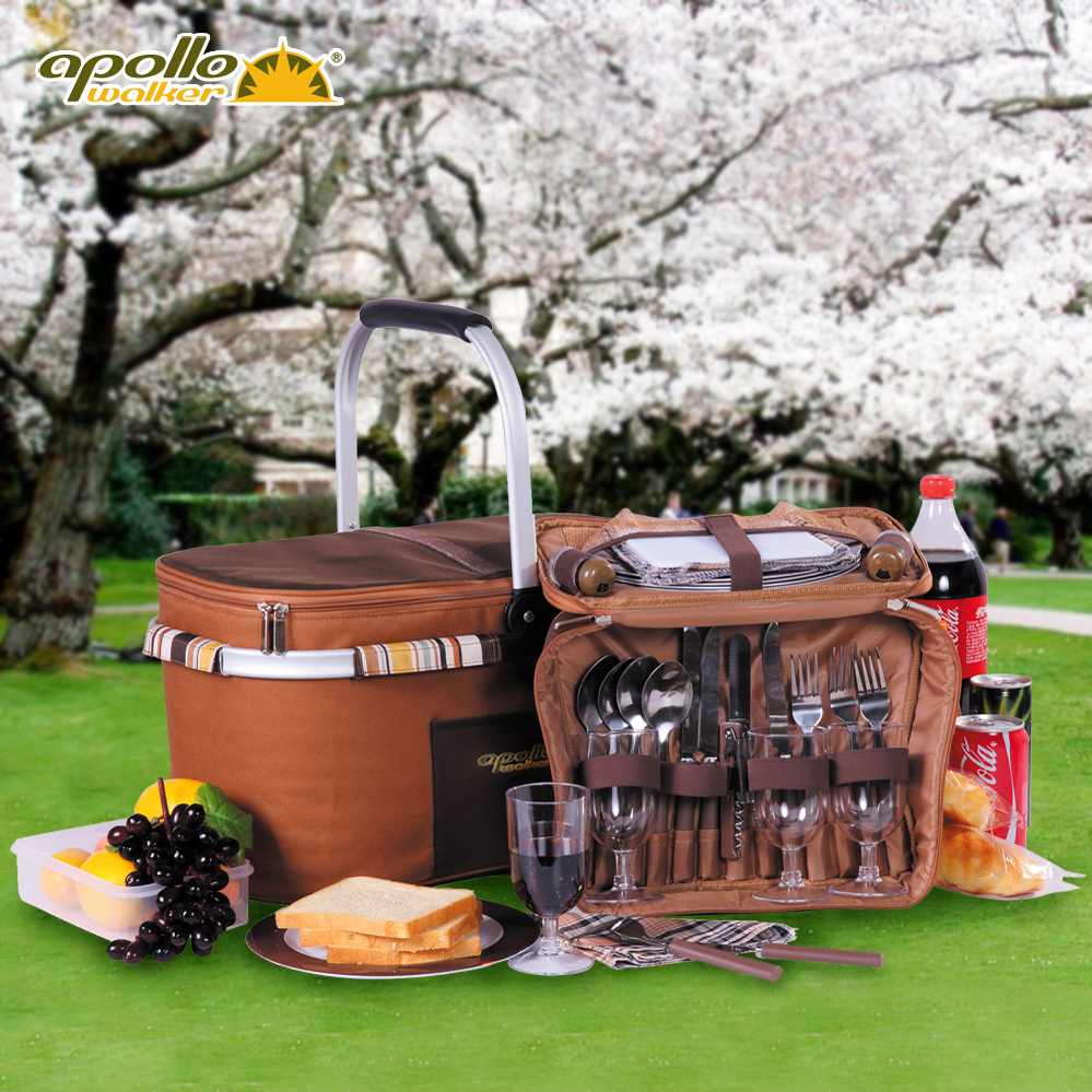 Picnic Basket Dish Set : Apollo picnic bag portable dinnerware set outdoor